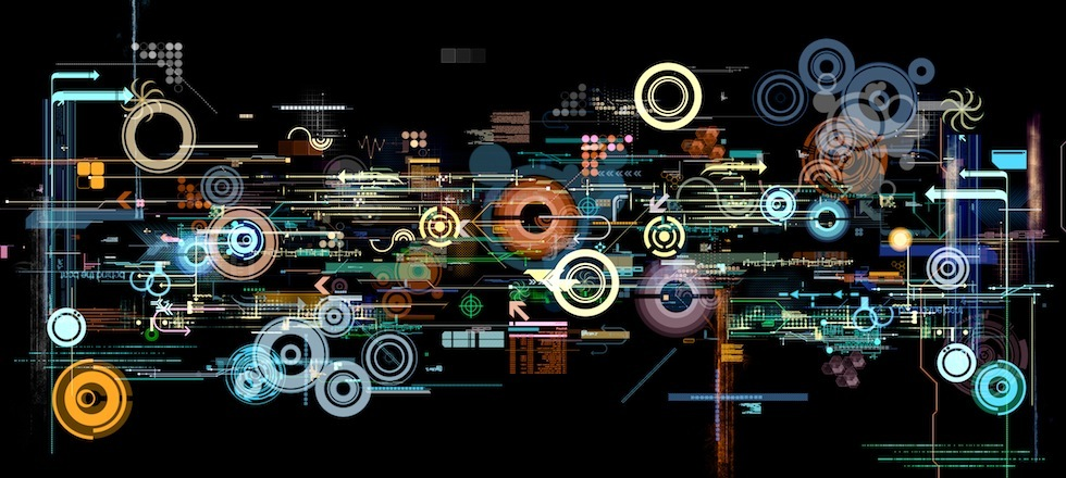 abstract graphic montage