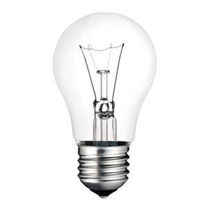 Screw Lightbulb Photo Isolated on White Background